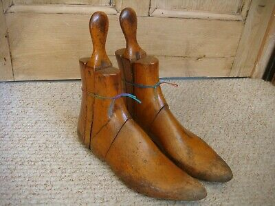 Pair of Vintage Victorian? 4 Part Wooden Boot Lasts/Shapers/Trees Size 8/4