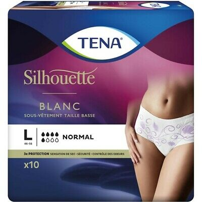 LOT DE 8 - TENA Lady Silhouette - Culottes pour adulte taille L  Normal (T 46-56