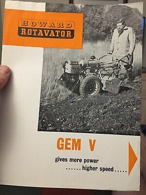 LATER HOWARD GEM ROTAVATOR DECALS