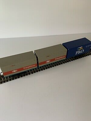 Hornby Freightliner Container Wagon R.022 3x20 Containers