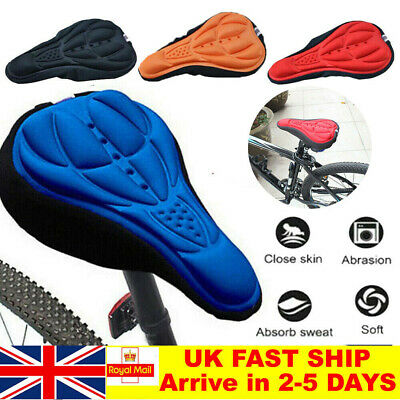 Bike EXTRA Comfort Soft Gel Pad Comfy Cushion Saddle Seat Cover Cycle Bicycle UK