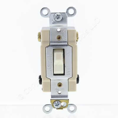 Cooper White COMMERCIAL Grade Toggle Wall Light Switch 15A 120//277V Bulk CS115W