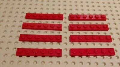 Lego 8x Plaque plate 1x6 6x1 3666 Dark Red//Rouge//Rot