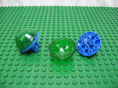 Hemisphere 4 x 4 Multifaceted TRANS GREEN x 1 30208 F22 CYLINDER LEGO