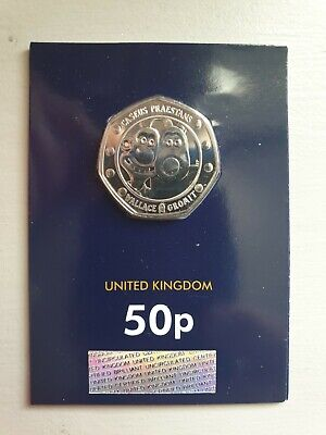 2019 Wallace and gromit  50p Uncirculated certified Bu.