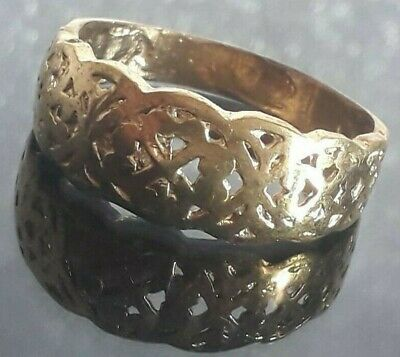 Ancient Bronze Roman Ring Wedding Engagement Old Unique Extremely Rare Size 11