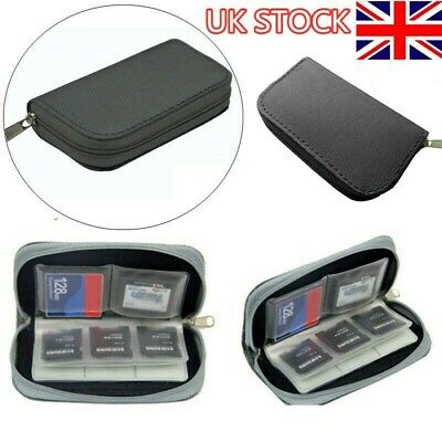 22-Slot Memory Card Case SD SIM CF Card Holder Carrying Bag for Micro SDHC UK