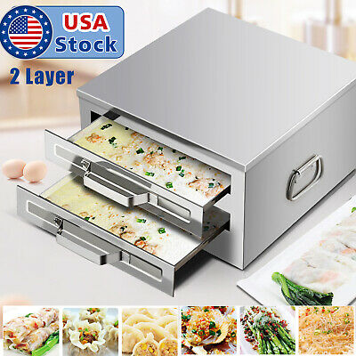 39cm stainless steel 3layer steamer cooker rice noodle roll machine+drawer+brush