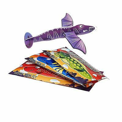Pack of 12 Dinosaur Flying Plane Gliders Kids Party Bag Fillers Childrens Toys