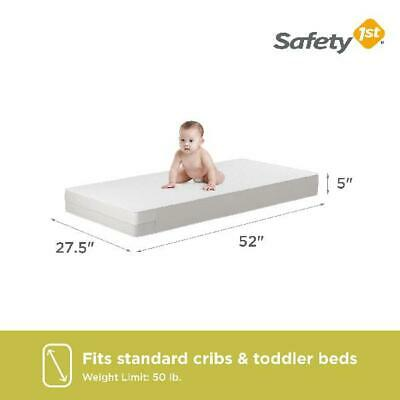"""5"""" Safety Child Crib Mattress Firm Baby Toddler Thermo-Bonded Bed Infant Comfort"""