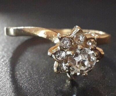 Antique Roman Empire Wedding Very Rare Find Ancient Ring Old White Stone Sz 9