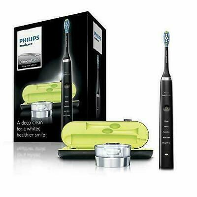 Philips Sonicare DiamondClean Electric Toothbrush, 2019 Edition, Black UK 2-pin