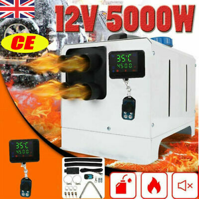 12V Air Diesel Heater 5000W LCD 4Holes Monitor Night For Truck control Car Home