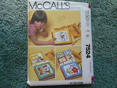 McCall/'s 7524 Soft Book Craft with Blue Transfer  Sewing Pattern