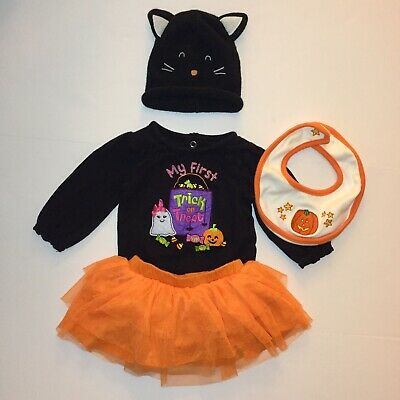 Mud Pie Baby CAT ONE PIECE 350076 Trick or Treat Collection Halloween