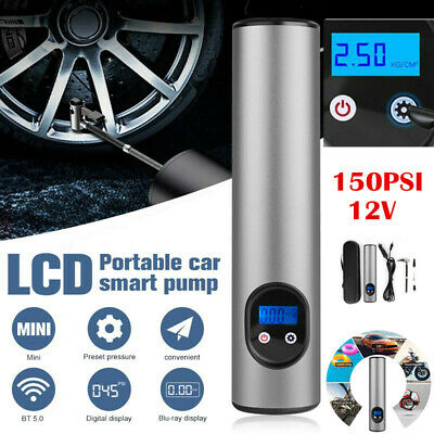 150PSI Wired Automatic Digital Car Tyre Inflator  Handheld Air Compressor Pump