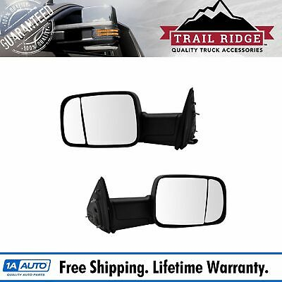 Trail Ridge Towing Mirror Manual Textured Black Pair for S10 S15 ...