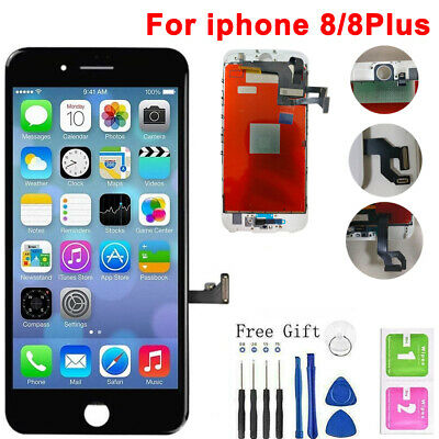 For iPhone 8 8plus Screen Replacement 3D Touch LCD Home Button With Free Tools