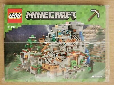 Lego Minecraft 21137 The Mountain Cave - INSTRUCTIONS MANUAL ONLY - Brand New