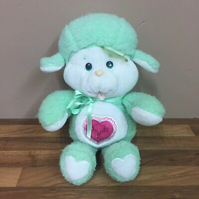 "Vintage 13"" Kenner Care Bear Cousins Gentle Heart Lamb Plush Soft Toy 1980s"