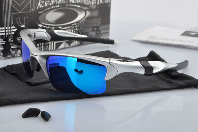 Sunglasses Half Jacket Gift Silver Polarized Blue Mercury Iridium