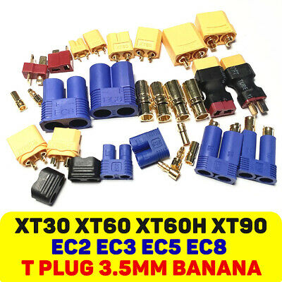 10Pairs XT-60 XT60 Male Female Bullet Connectors RC Lipo Power Plugs Nylon 10Pcs