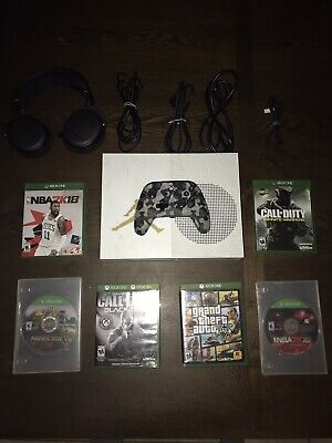 Microsoft Xbox One S 1TB White Console ( With 6 Games ) (1 Controller) (1 Mic )