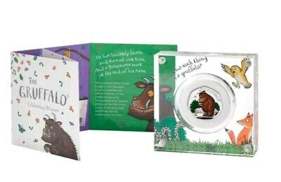 The Gruffalo and Mouse 2019 UK 50p Silver Proof Coin Royal Mint COA included