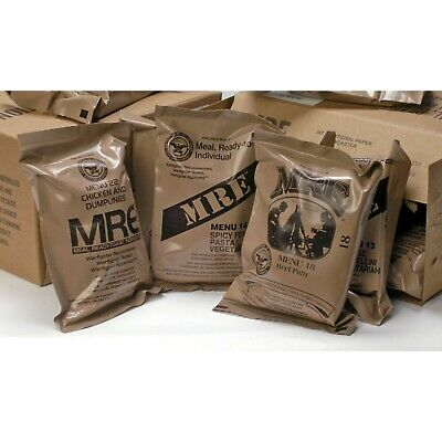 US Military Food Mres Meals Ready-To-Eat Case Lot Mre Box SOS Rations Army 4PACK