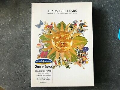 TEARS FOR FEARS TEARS ROLL DOWN Sound+Vision 2CD & 1DVD Box Set promo stickered