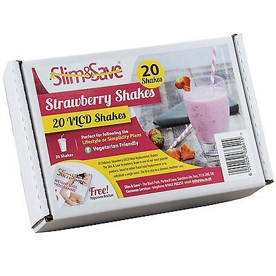20 Strawberry Flavour Slim & Save Diet VLCD Shakes - Fast Weight Loss - Ketosis