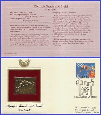 US #2553 ADDR GOLDEN REPLICA FDC   Pole Vault Summer Olympics