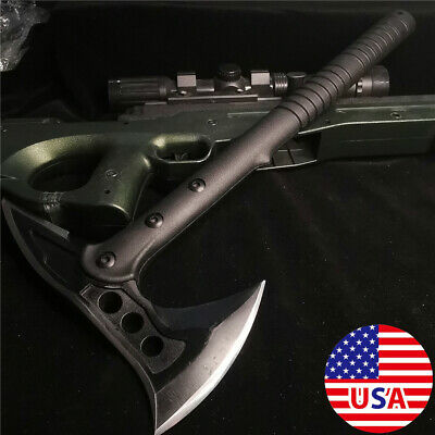 """15.35"""" Full Tang Survival Tomahawk Throwing Axe Hatchet Tactical Hunting Knife"""
