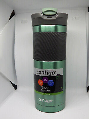 NEW CONTIGO COFFEE FLASK Autoseal Spill Proof Stainless Thermal Travel 473ml