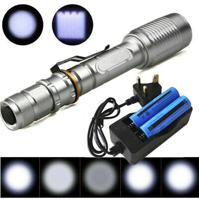 900000LM T6 LED Rechargeable Flashlight Camping Outdoor Torch+Battery+Charger