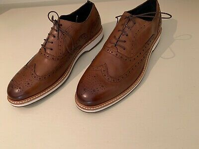 Cole Haan Zerogrand Mens Size 9.5M Brown Woodbury Leather Oxford Wingtip new.