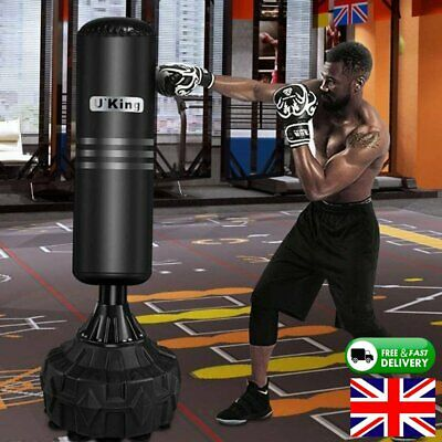 5.6ft Free Standing Boxing Punch Bag Adult Kick Martial Arts Training Heavy Duty