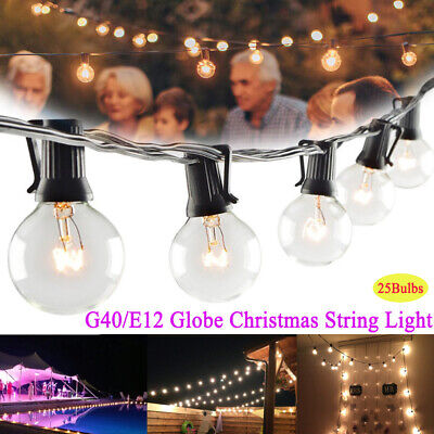20m Connectable Outdoor 24 G45 LED Festoon LightsParty Globe Bulbs Wedding UK