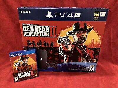 Sony PlayStation 4 Pro 1TB 4K Console - Red Dead Redemption Special Edition