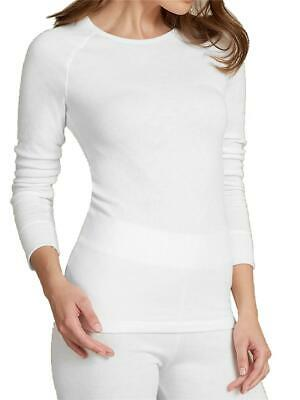 EX M/&S Black Thermal Long Sleeve Pointelle Brushed Ribbed Cuffs Top Size 12 18