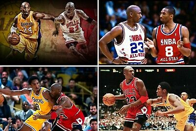 Kobe Bryant & Michael Jordan Collage Poster (24x36) inches