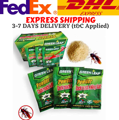 Details about  /1 Box Cockroach Killer Powder Killing Bait Roach Work Fast Express Shipping DHL