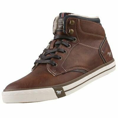 Neuf Mustang Chaussures Hommes Chaussures High-top Sneaker Doublure Bottes Bottines