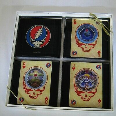 Grateful Dead Collector Music Card Drink Coaster Set 4 Coasters Great Gift 26 67 Picclick Uk