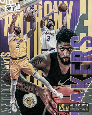 "Los Angeles Lakers LA NBA Basketball 20/""x14/"" Poster 081 Anthony Davis"