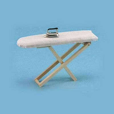 1:12 Dollhouse miniature iron with ironing board set classic furniture toys QP
