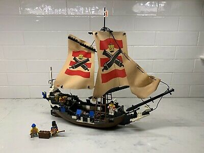 LEGO Cloth Sail 28 x 18 Dark Tan Stitching Pattern Imperial Flagship 10210 Rare