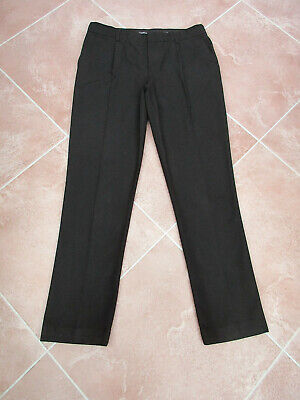 M&S - Boys Black Straight School Trousers - size 15/16 Years