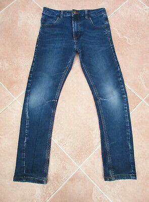 George - Boys Blue Stretch Curved Leg Jeans - size 8/9 years