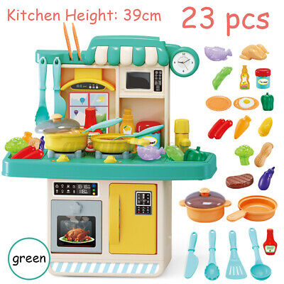 US 42PCS Kitchen Playset Pretend Kids Play Toy Cooking Set With Light Sound Xmas